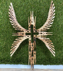 """12"""" Double Winged Clothespin Cross"""