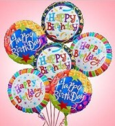 1/2 dozen Birthday Balloon Bunch