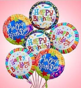 1 2 Dozen Birthday Balloon Bunch