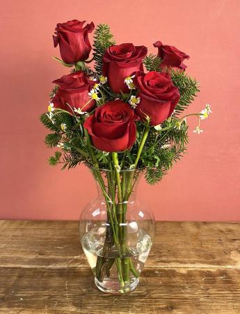 1/2 Dozen Custom Roses  Vase Arrangement