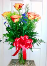 1/2 dozen Circus Roses Roses