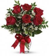 1/2 DOZEN OF ROSES ELEGANT AND MIXTURE FLOWERS
