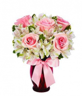 1/2 Dozen Pink Rose Mix