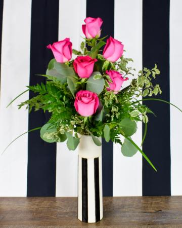 1/2 Dozen Pink Roses