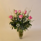 1/2 dozen Pink roses Fresh pink roses