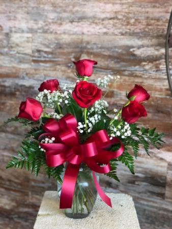 1/2 Dozen Red Roses Roses