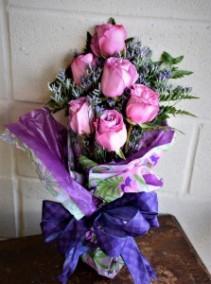 1/2 Dozen Rose Bouquet Hand Bouquet