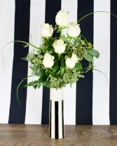 1/2 Dozen White Roses