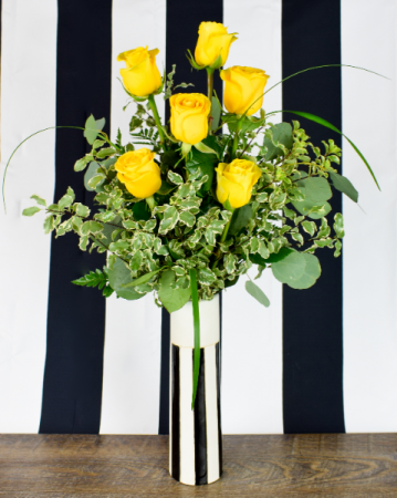 1/2 Dozen Yellow Roses