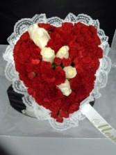 "12"" Heart Funeral Flowers"