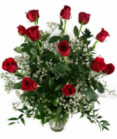 For Valentine's Day 12 Long Stem Red Roses