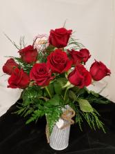12 Metal Roses  Valentine