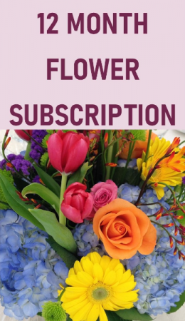 12 Month Flower Subscription Service