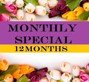 12 Month Subscription Floral Arrangement in Presque Isle, ME | COOK FLORIST, INC.