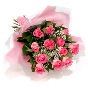 12 Pink Rose Bouquet NOW 49.99 Pink Rose Bouquet in Sunrise, FL | FLORIST24HRS.COM