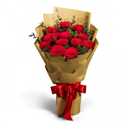 12 Rose Wrapped Bouquet  LOCAL DELIVERY variety of colors available  !!!!