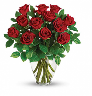 1 Dozen Red Roses Arrangement in Redlands, CA | REDLAND'S BOUQUET FLORIST & MORE