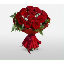 12 RED ROSES cut flowers  NO VASE