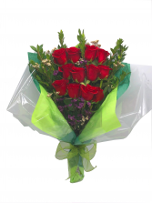 12 Roses Bouquet Bouquet of Red Roses in Miami, Florida | FLOWERTOPIA