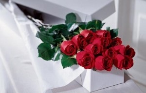 12  Roses Boxed Valentine's day or any day any colors