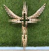 """12"""" Single Winged Clothespin Cross"""