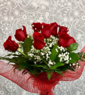 12 Red Roses - No Vase  Roses