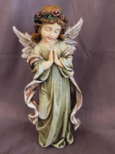 "12"" tall Colored Resin Angel"