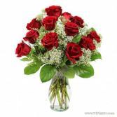 12 VALENTINE ROSES