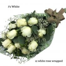 12 White Rose Bouquet Rose Bouquet