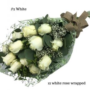 12 White Rose Bouquet Rose Bouquet in Abbotsford, BC | BUCKETS FRESH FLOWER MARKET