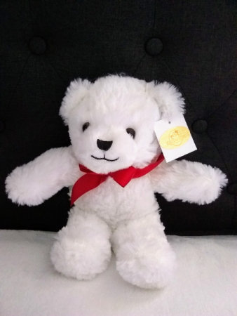 "12"" white Teddy"
