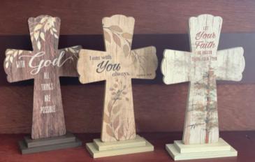 """12"""" Wooden Watercolor Cross"""
