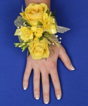 GLOWING YELLOW Prom Corsage in Batesville, AR | PETALS & PLANTS