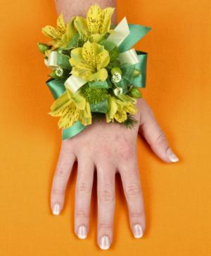 SPRING SUNSHINE Prom Corsage in Conroe, TX | THREE LADY BUGS FLORIST