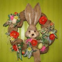 "14"" Bunny Wreath Easter"