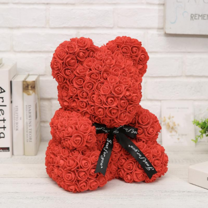 14 Quot Red Rose Teddy Bear In Bronx Ny Bella S Flower Shop