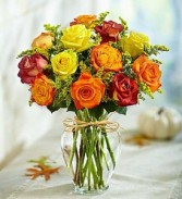 Autumn Rose Bouquet Fall Flowers