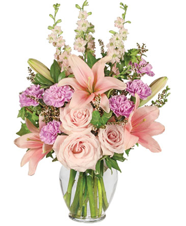 Pink paradise flower arrangement in hot springs ar the arrangement pink paradise flower arrangement mightylinksfo