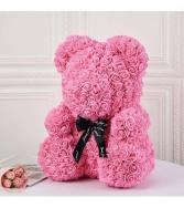 14inch Pink Rose Bear With Box Pink Rose Bear