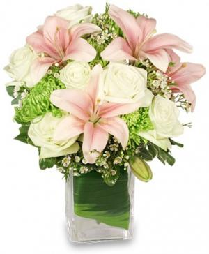 Heavenly Garden Blooms Flower Arrangement in Indialantic, FL | ROSES ARE RED