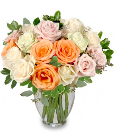 Alabaster Roses Arrangement