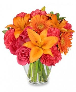 Feeling Hot! Hot! Hot! Bouquet in Bethany, OK | MC CLURE'S FLOWERS & GIFTS
