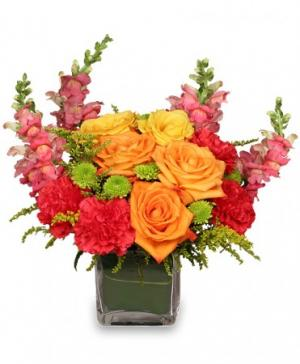 DYNAMIC COLORS Bouquet in Burns, OR | 4B Nursery And Floral
