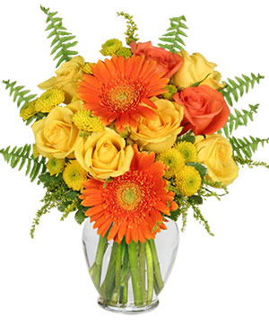 Citrus Zest Bouquet in Pacific City, OR | CAPTAIN'S FLOWERS & GIFTS