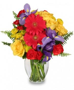 Flora Spectra Bouquet in Worcester, MA | LADYBUG/GEORGE'S FLOWER SHOP