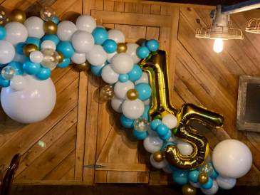 15th Birthday Balloons  Balloon Garland