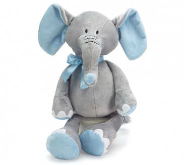 "16"" Blue & Gray Elephant Gift"