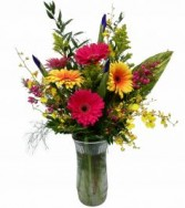 #16 Gerbera Brilliances  Vase
