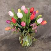16 Tulips in Vase