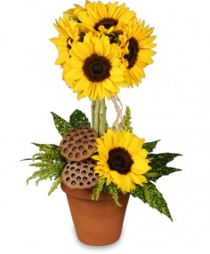Pot O' Sunflowers Topiary Arrangement